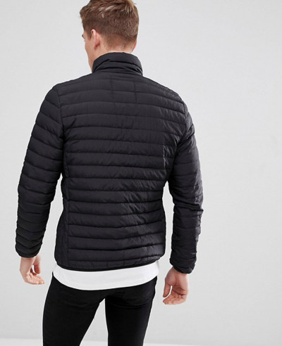 Real Down Puffer Jacket In Black
