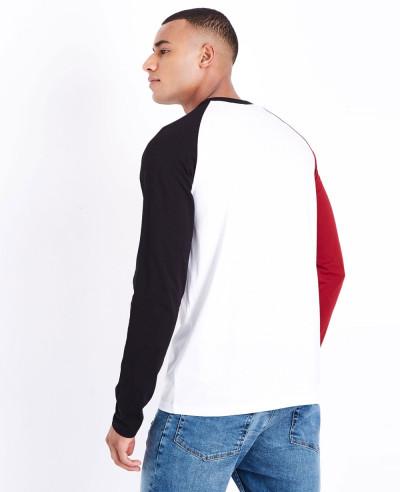 Red Raglan Long Sleeve Stylish T Shirt