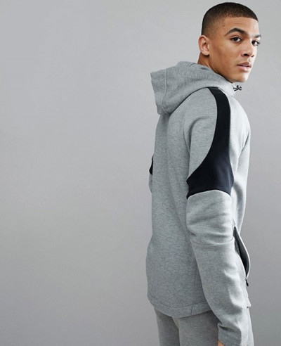 Running Evostripe Move Full Zip Hoodie In Grey