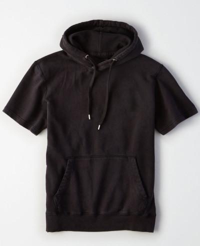 Short Sleeve Men Pullover Custom Hoodie