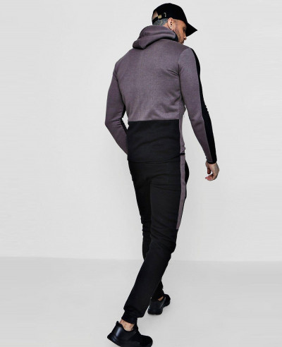 Skinny Contrast Hooded Tracksuit