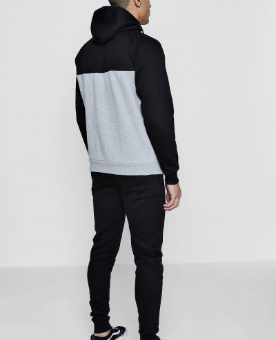 Skinny Fit Colour Block Tracksuit