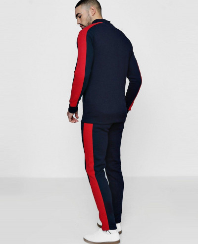 Skinny-Fit-Funnel-Neck-Tracksuit-With-Side-Panel