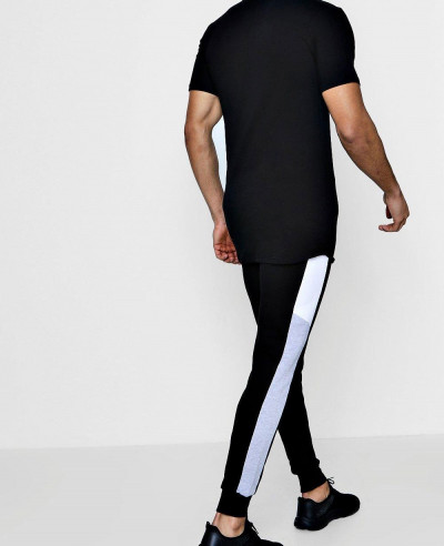 Skinny Fit Side Panelled Sweatpant Joggers