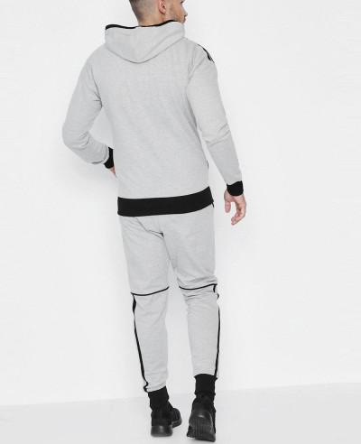 Skinny-Fit-Stripe-Panel-Hooded-Tracksuit