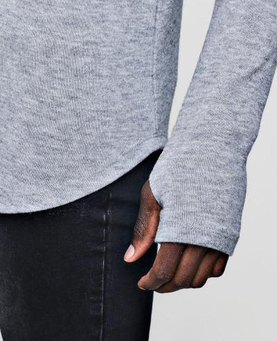 Soft Touch Longline Curved Hem Jumper