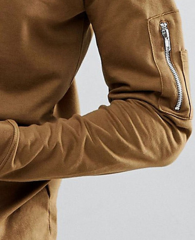 Sweat-With-Zip-Pocket-Detail-In-Khaki