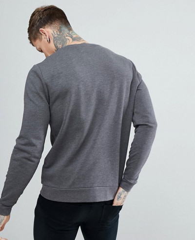 Sweatshirt-In-Charcoal-Marl