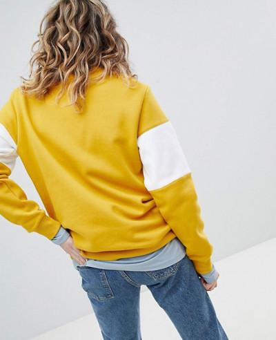 Sweatshirt In Yellow And White