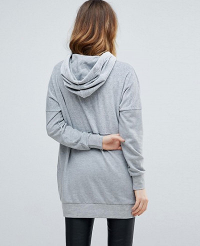 Tall-Oversized-Longline-Grey-Hoodie-Sweater