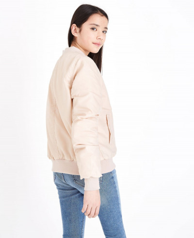 Teens-Pink-Satin-Bomber-Jacket