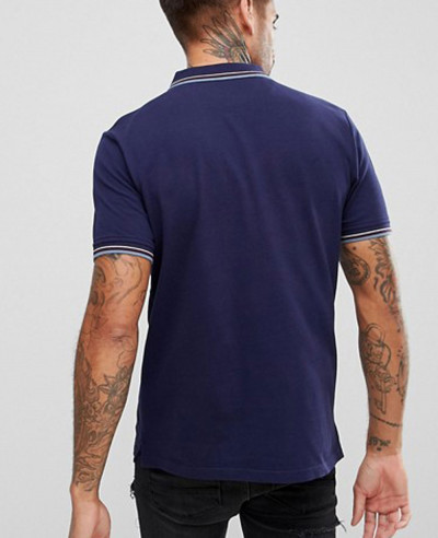 Tipped-Polo-Shirt-In-Navy
