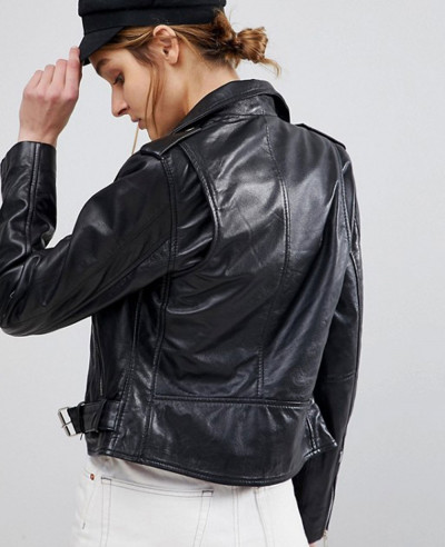 Vintage Revived Leather Biker Jacket