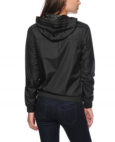 Women-Black-Windbreaker-Coach-Jacket