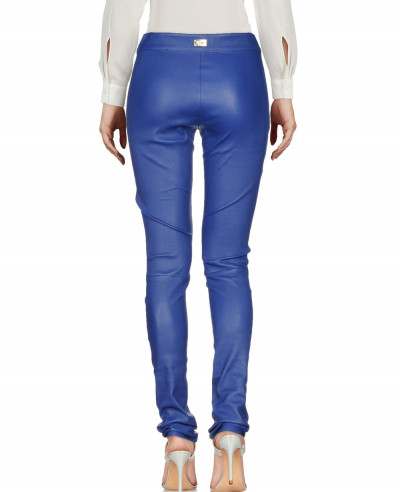 Women-Blue-Biker-Leather-Pant
