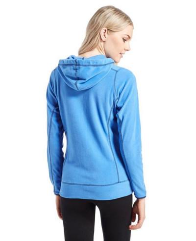 Women-Blue-Full-Zip-Microfleece-Hooded-Fleece-Jacket