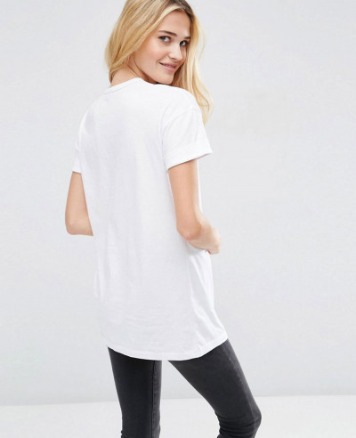 Women-Easy-Longline-Stylish-T-Shirt