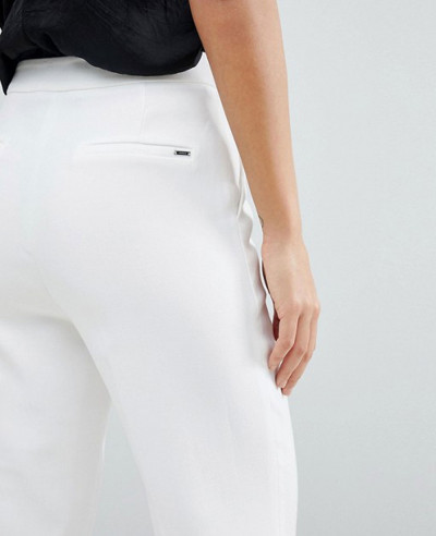 Women-Fashion-White-Leg-Trouser