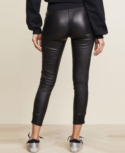 Women-Ladies-Punk-Zipper-Leather-Pencil-Lace-Up-Pants-High-Waist-Trousers