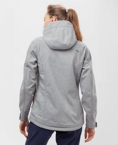 Women-New-Fashion-Hooded-Marl-Softshell-Jacket