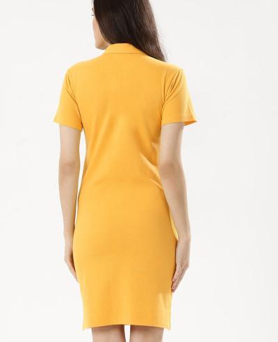 Women-Oversized-Pocket-Polo-Shirt-Dress