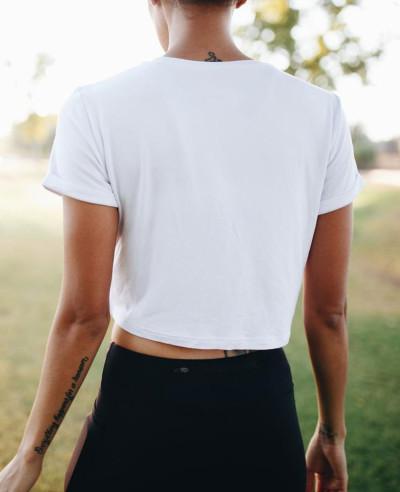 Women-Printed-White-Crop-Top