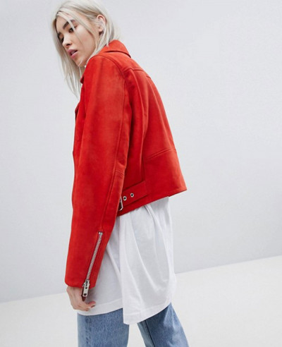 Women-Red-Suede-Biker-Moto-Leather-Jacket-
