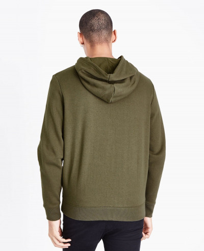 Zip Up Men Khaki Custom Hoodie