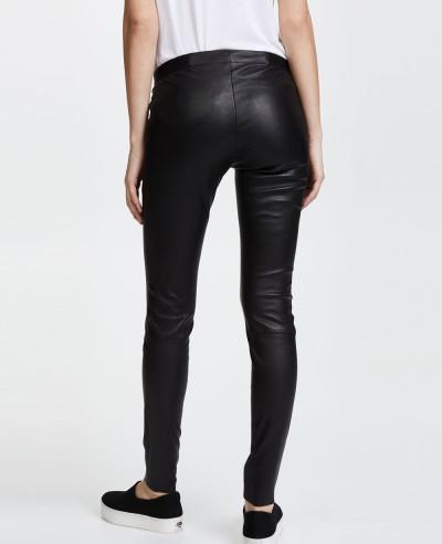 Zipper-Front-Leather-Leggings
