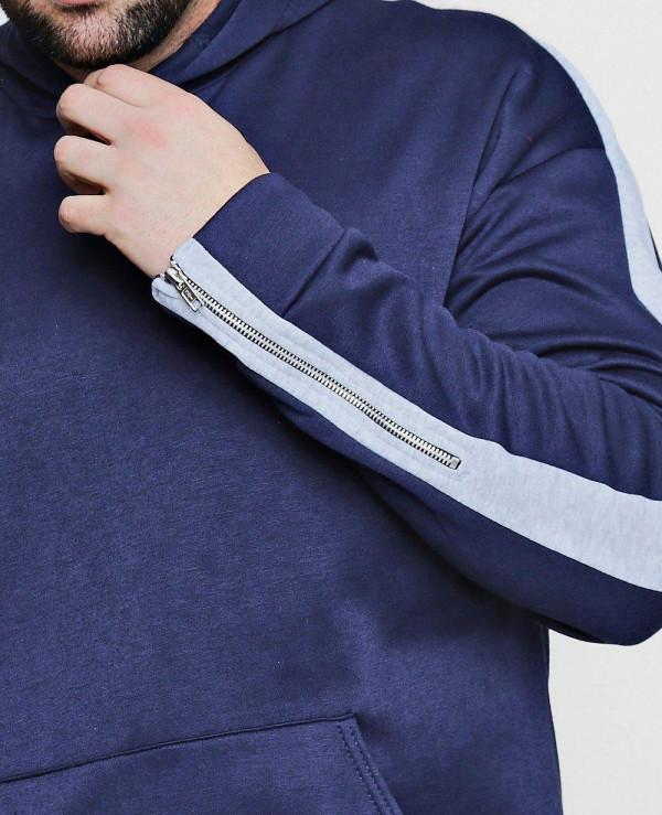 Big-And-Tall-Panel-Zip-Detail-Hoodie