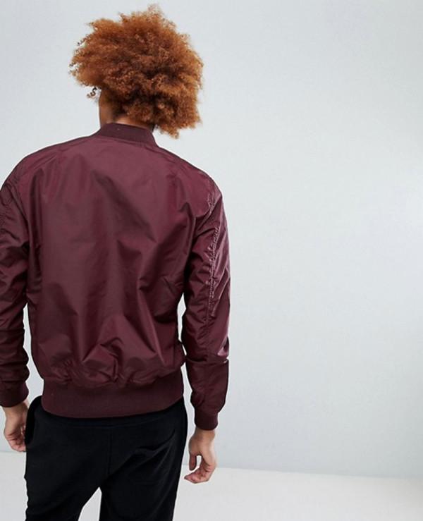 Bomber-Jacket-Slim-Fit-in-Dark-Maroon