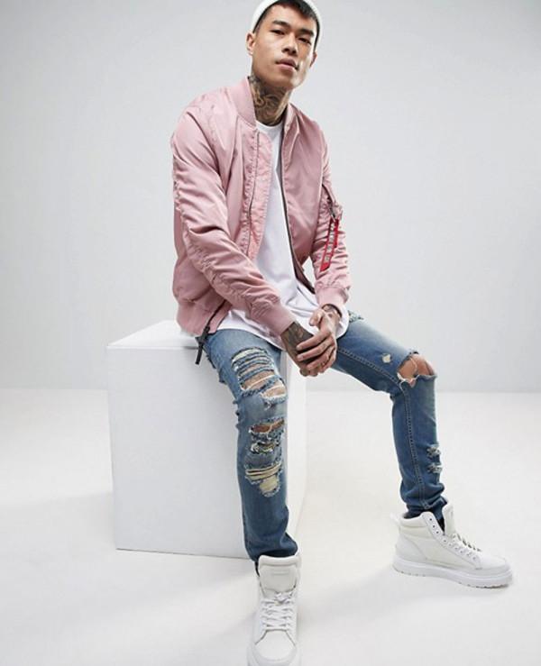 Bomber-Jacket-Slim-Fit-in-Pink