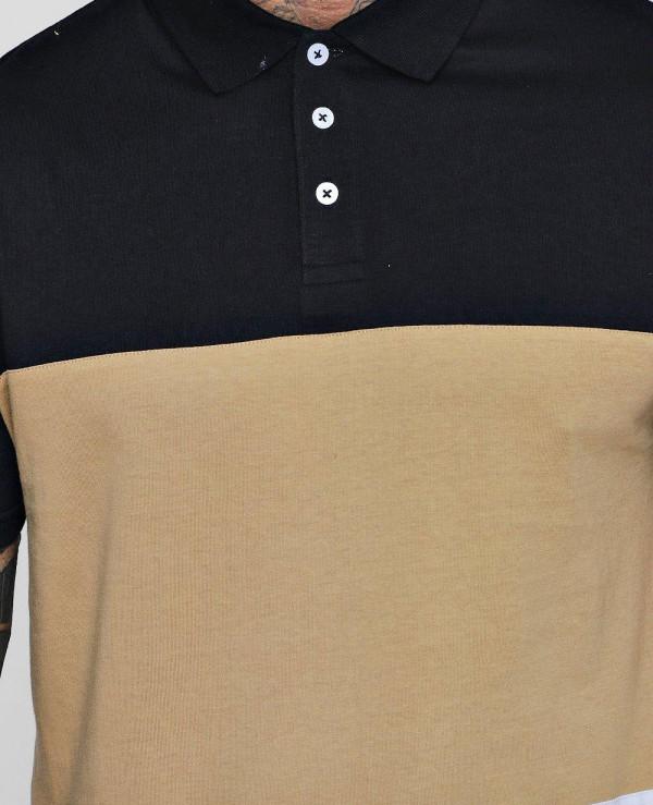 Colour-Block-Short-Sleeve-Polo-Shirt