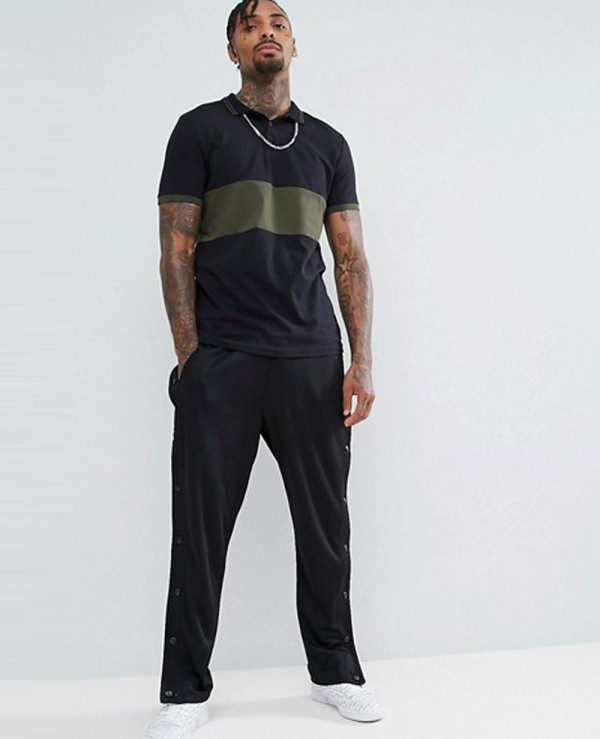 Contrast-Panel-Polo-With-Tipped-Collar
