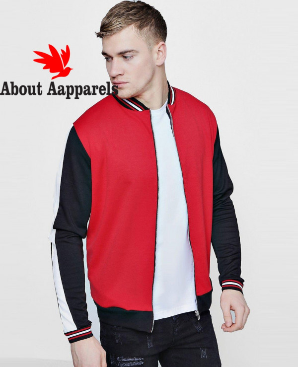 Contrast-Panel-Sports-Jersey-Bomber-Jacket