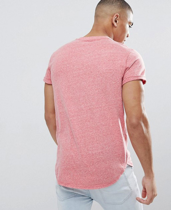 Crew-T-Shirt-Slim-Fit-Scallop-Hem-Icon-Logo-in-Red