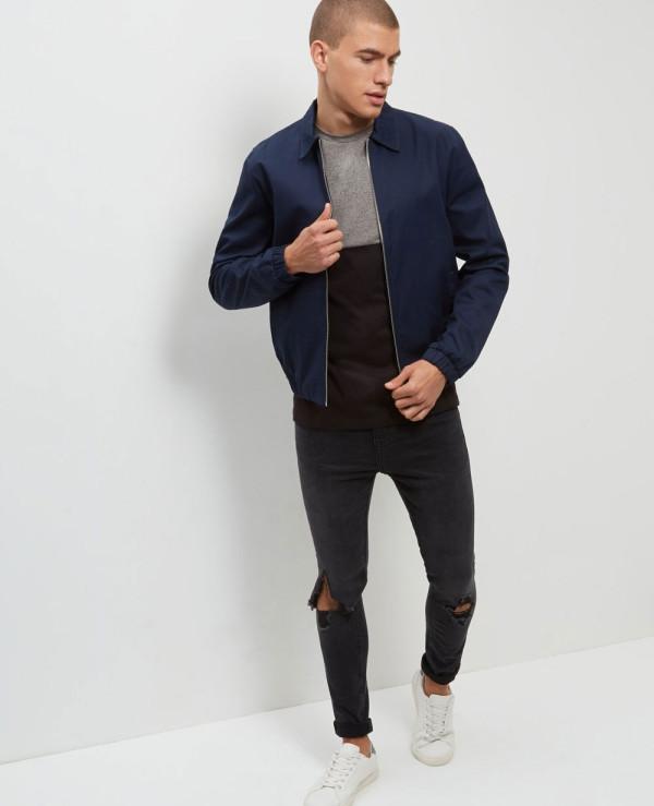 High-Quality-Men-Custom-Grey-Colour-Block-T-Shirt