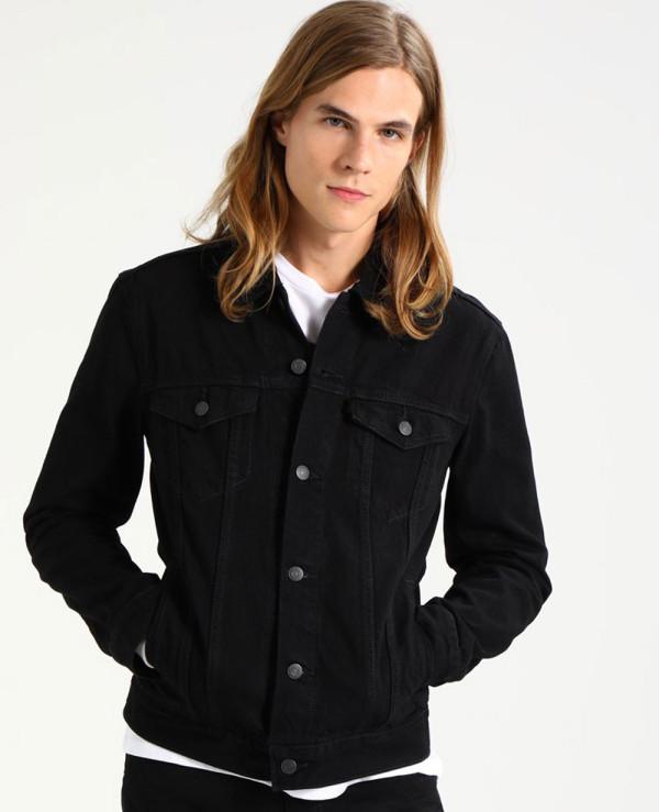 Men Black Hot Selling Custom Denim Jacket Wholesale