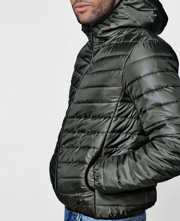 Men-Hooded-Zipper-Through-Lightweight-Puffer-Jacket