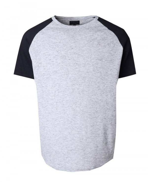 Men-Longline-Raglan-Knitted-Grey-T-Shirt
