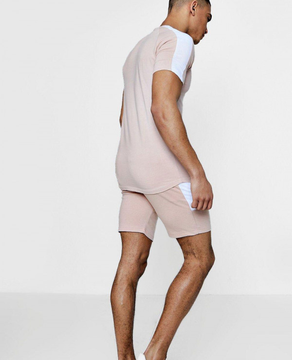 Men-Skinny-Fit-Contrast-Panelled-Shorts