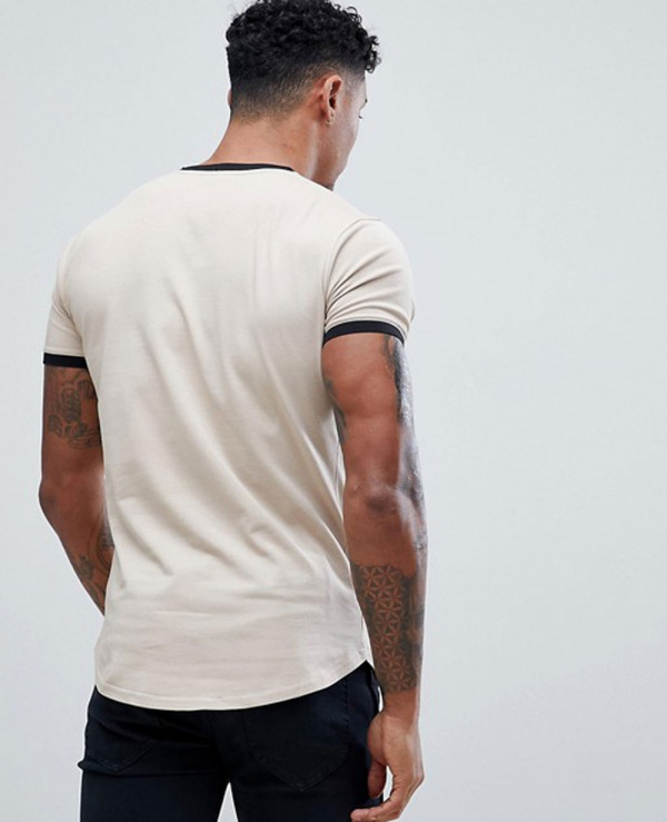 Muscle-Gym-Fit-Ringer-In-Beige-T-Shirt