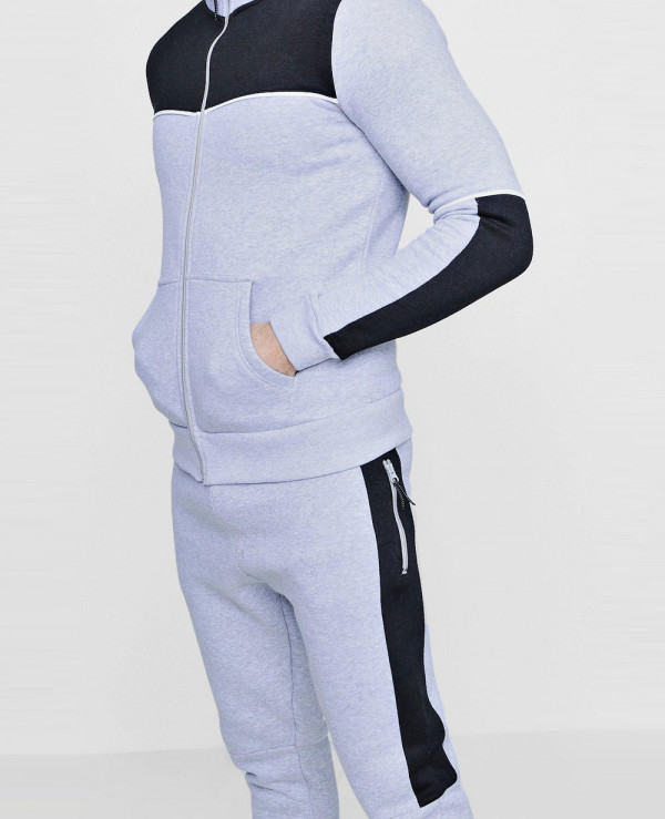 New-Fashion-Colour-Block-Zipper-Through-Tracksuit