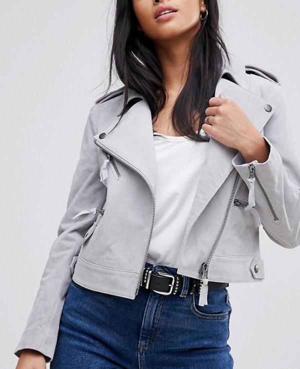 New-Grey-Custom-Stylish-Leather-Suede-Jacket