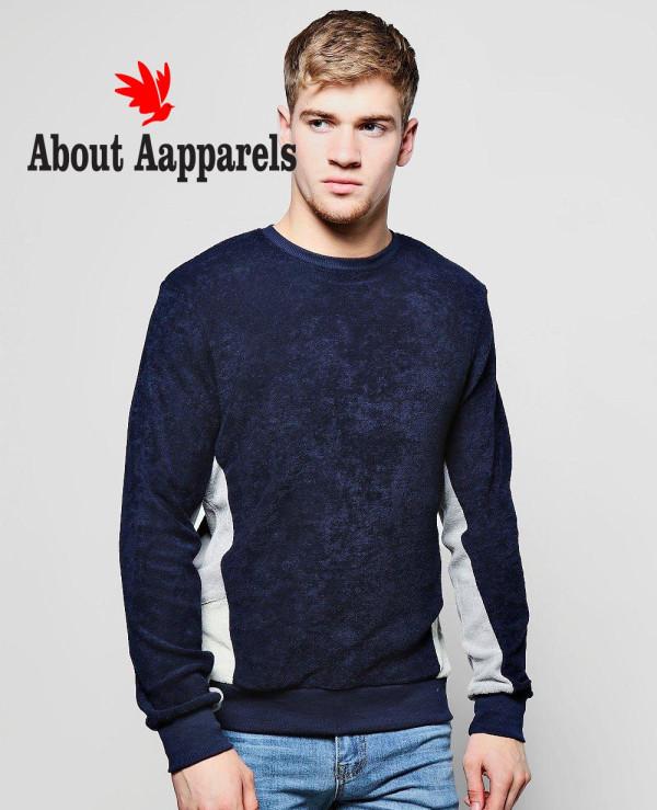 New-High-Quality-Men-Fashion-Velvet-Color-Block-Sweatshirt