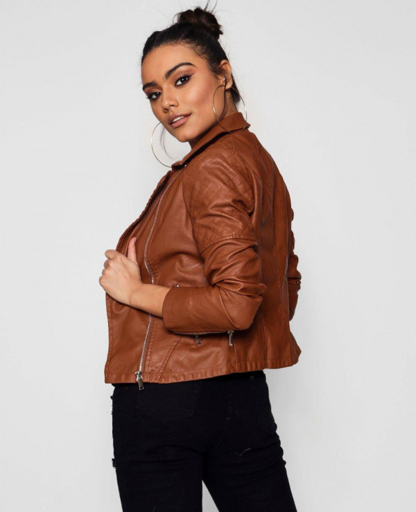New-Most-Selling-Leather-Biker-Moto-Jacket