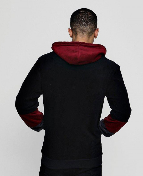 Pullover-Colour-Block-Fleece-Over-The-Head-Hoodie
