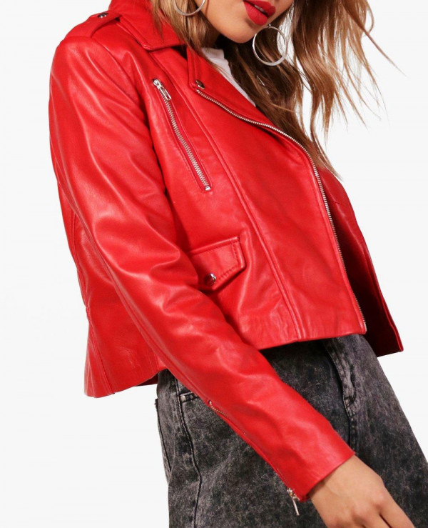 Red-Sheep-Crop-Moto-Leather-Jacket