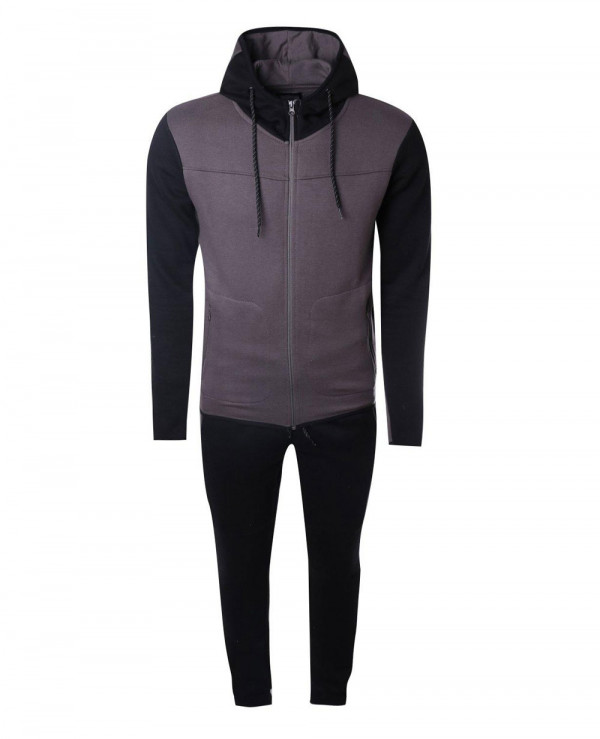 Skinny-Contrast-Hooded-Tracksuit