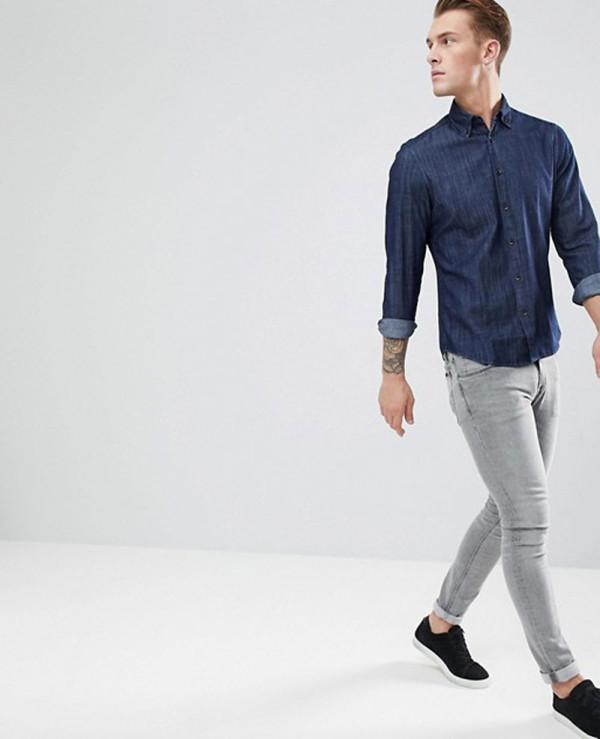 Slim-Fit-Denim-Shirt